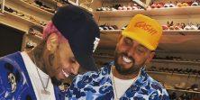 Ako misliš da su tvoji prijatelji jazavci, Chris Brown si je tetovirao Air Jordan tenisicu na facu