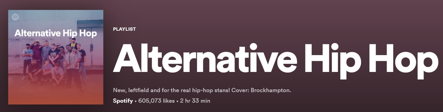 spotify alternative hip hop