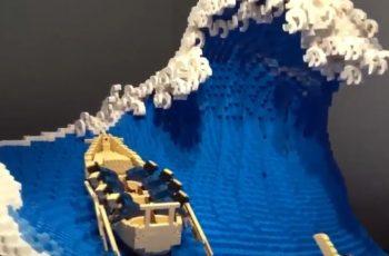 Nekom su LEGO kocke bol u stopalu, a nekom su umjetnost - moraš vidjeti ovaj Veliki val