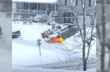 Što te slomilo toliko u životu, internetski čovječe, da čistiš snijeg bacačem plamena?