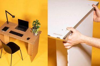 """Privremeni kartonski radni stol za """"privremeni"""" rad od kuće? U ideji ovaj danski dizajnerski komad namještaja zvuči dobro"""