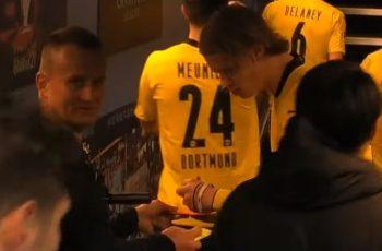 Kamere uhvatile suca kako traži autogram od Haalanda nakon utakmice Lige prvaka