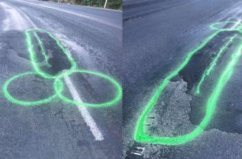 Crta neonske k*rčeve kako bi skrenuo pažnju na opasne rupe u cesti. Prijeti mu zatvor