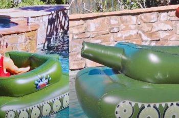 Ma kakvi jednorozi i krafnice, pravi muškarac treba luftić za bazen u obliku - tenka