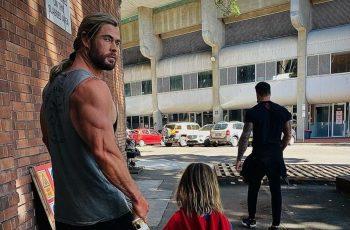 Ljubomorni ljudi će reći da je Chris Hemsworth na steroidima nakon što mu vide ruke