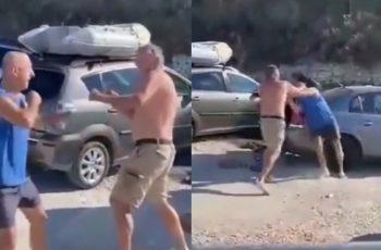 """VIDEO Drama na Žnjanu! Mlatili se šakama pa nastala galama: """"Je*ote! Razbija mi je auto"""""""