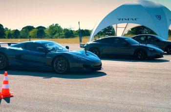 Ovo je nepoštena utrka - Rimac Nevera u utrci protiv Porsche Taycana i BMW M5-ice