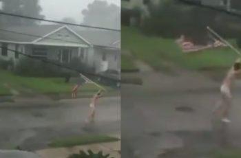 """Uragan Ida pokorio SAD: pogledajte neustrašivog lika koji piči kroz oluju """"bez problema"""""""