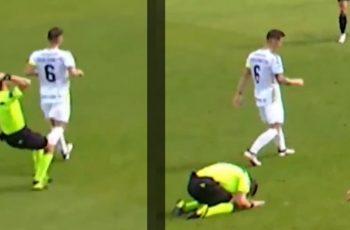 Zaboljelo ga! Nogometni sudac se bacio na koljena kad je uvidio svoju ogromnu pogrešku