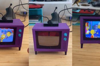 Predivan projekt - maleni TV iz Simpsona na kojem možeš gledati epizode Simpsona